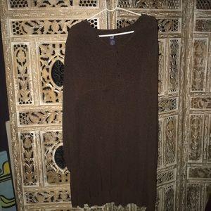 Gap baby doll dress brown size large